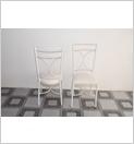 Cadeira de ferro estofada